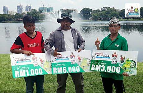 Wajah Pemenang Jelajah Pancing Kuala Lumpur di Tasik Titiwangsa 4 Jun 2016