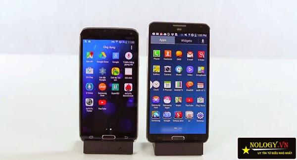 Samsung Galaxy Note 3 cũ và Samsung Galaxy S5 Au đại chiến.