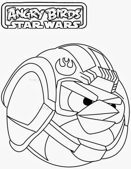 Magnífico Angry Birds Star Wars Para Colorear Páginas Anakin ...