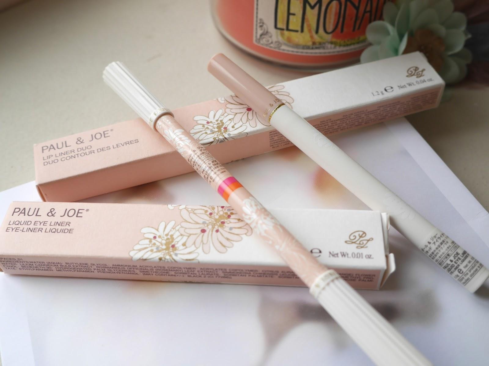 paul & joe liquid eyeliner lip liner duo 4 review swatch