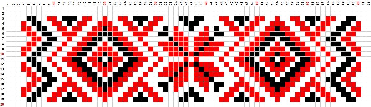 Подробные схемы из бисера, плоские схемы из бисера, браслет из.