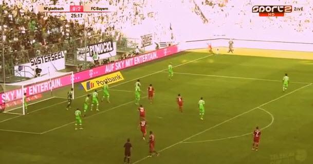 تياغو الكانتارا يسجل اول اهدافه مع البايرن و بصدره Thiago Alcantara First Goal For FC Bayern vs Borussia M'gladbach 2013