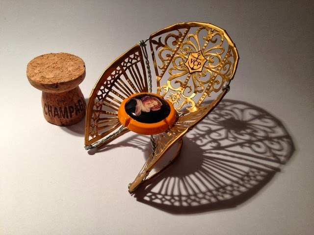 Champagne Cork Chair Art from DRW Contest by Dan Nawrocki