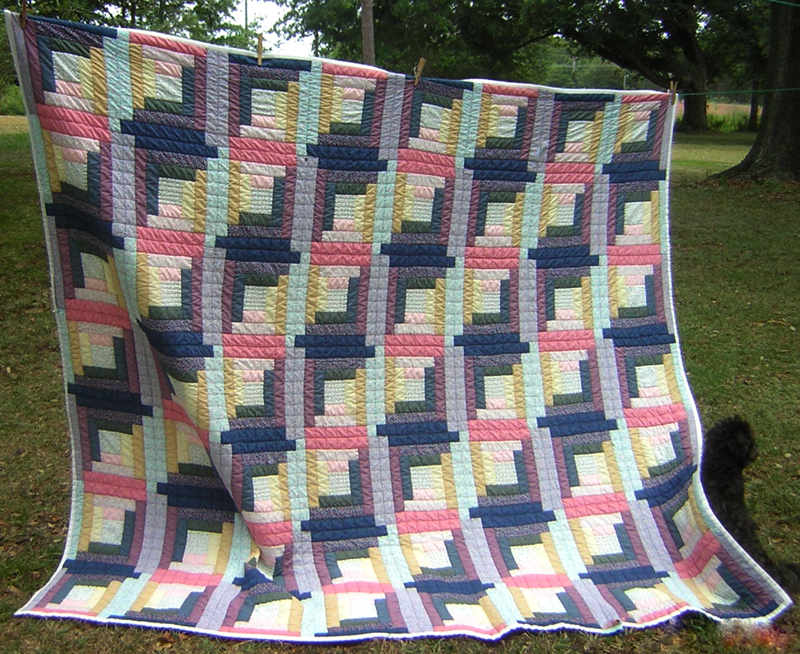 My Southern Quilts Log Cabin Quilt Straight Furrow Pattern