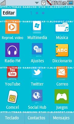 Tema Windows 8 para Samsung star 2 S5260