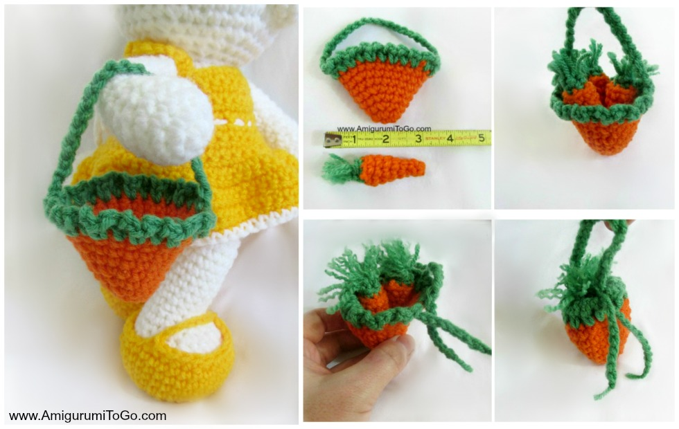 Free Amigurumi Carrot Pattern : Carrot Purse For Dress Me Bunny ~ Amigurumi To Go
