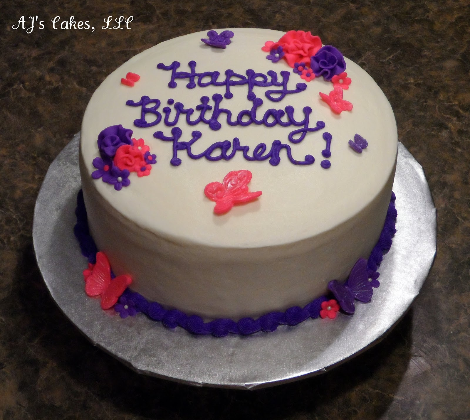 Ajs Cakes Pretty Little Flowers And Butterflies