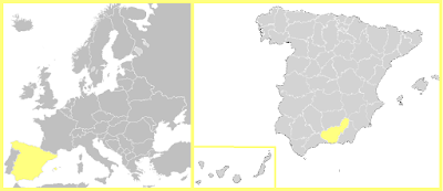 Mapa España Granada