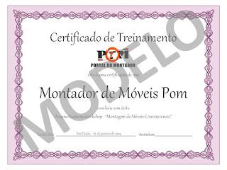 certificado workshop de montagem de moveis