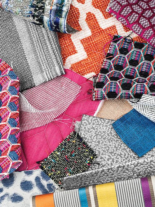 bright woven modern fabrics