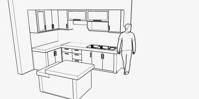 furniture semarang gambar kerja kitchen set minimalis