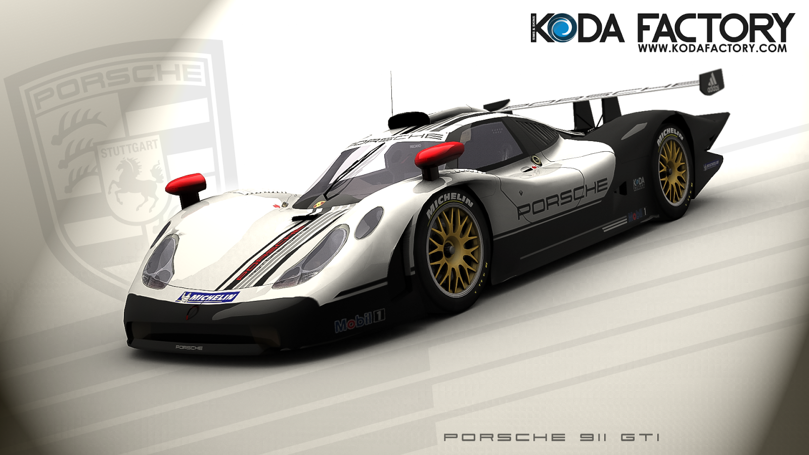 koda factory porsche 911 gt1 artwork. Black Bedroom Furniture Sets. Home Design Ideas