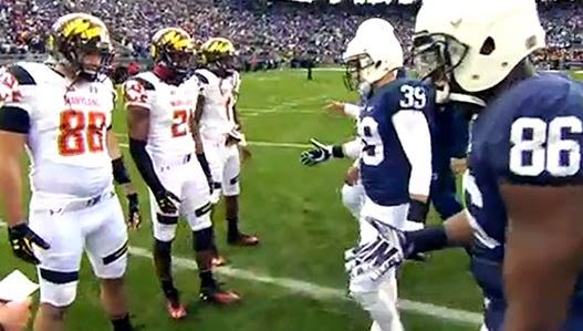 Coin toss Maryland at Penn State