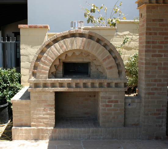 how to make a pizza oven out of bricks
