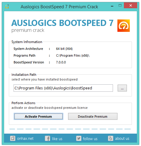 Download Auslogics Boost Speed Premium 7 with crack.