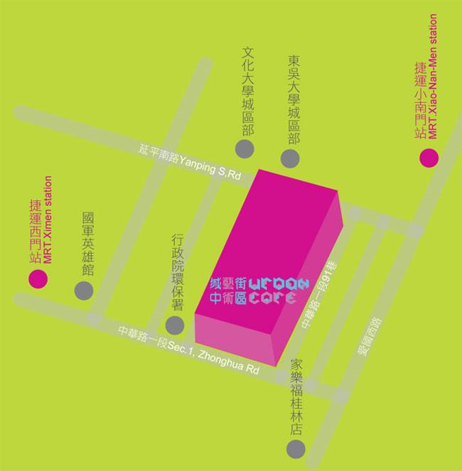 城中藝術街區地圖