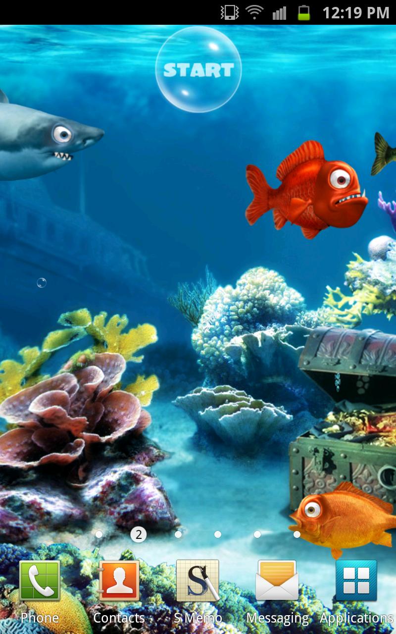 Crazy fish live wallpaper for Live fish wallpaper