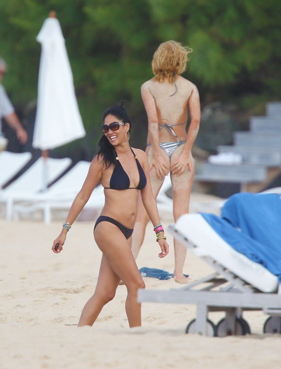 Kimora Lee Simmons Bikini Candids Beach St Barts Hawai Lima
