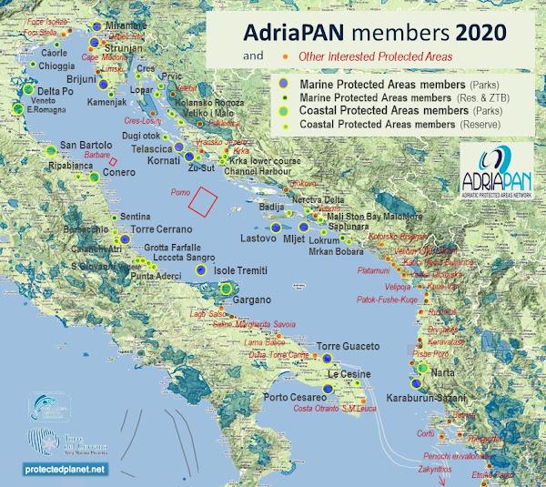 AdriaPAN Members Map