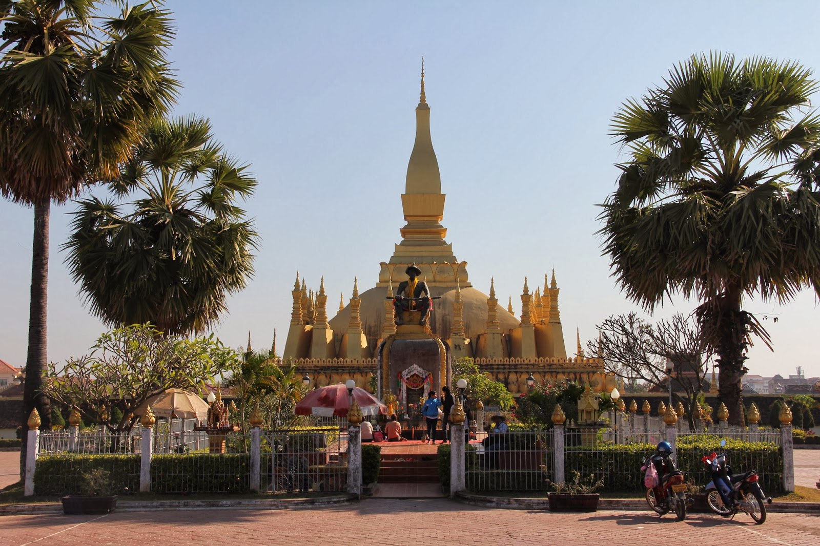 Phra That Luang, the preeminent stupa in Laos, is the Lao national symbol.