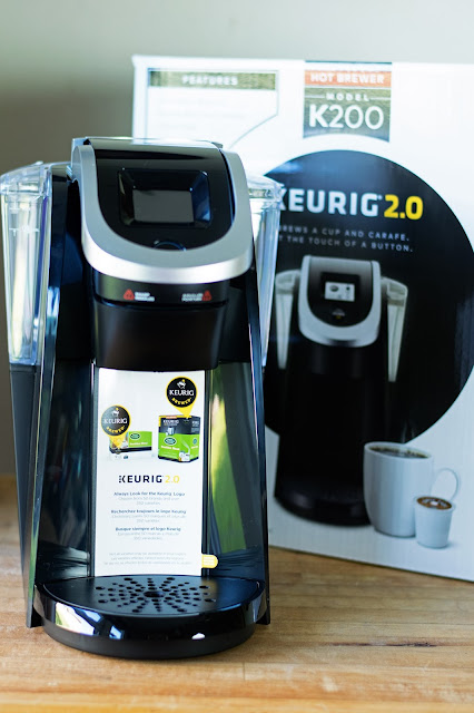 A Keurig Machine and it's box.