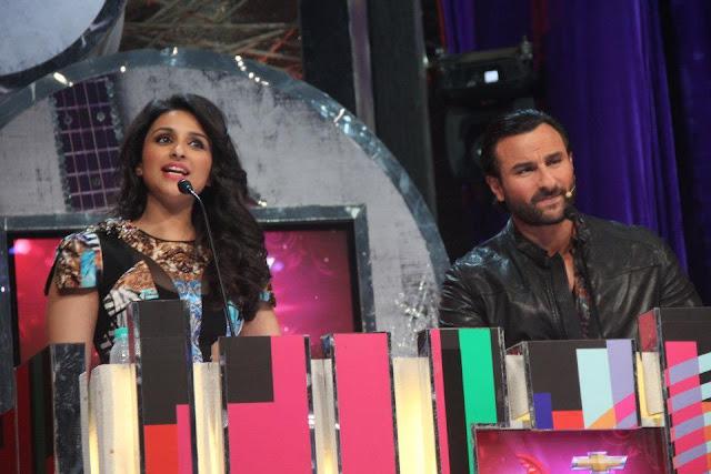 Parineeti chopra & Saif Ali Khan at GIMA 2012 Awards