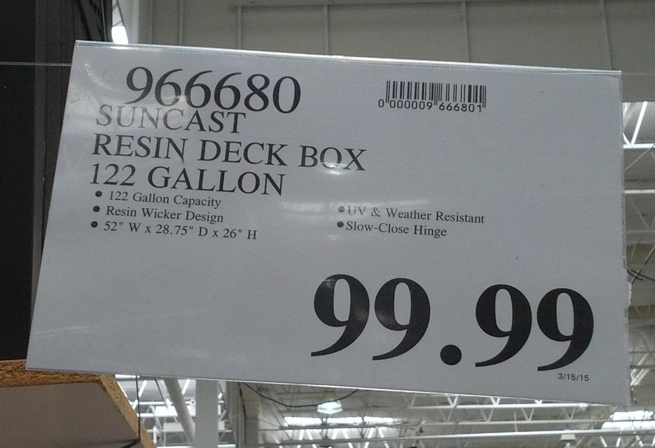 Suncast Resin Extra-Large Deck Box DBW9935 item number 966680 at Costco & Suncast Resin Extra-Large Deck Box DBW9935 | Costco Weekender