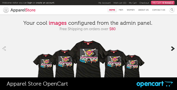 ThemeForest - Apparel OpenCart Theme
