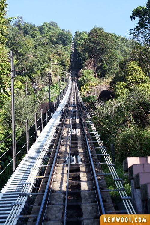 penang hill tram railway up