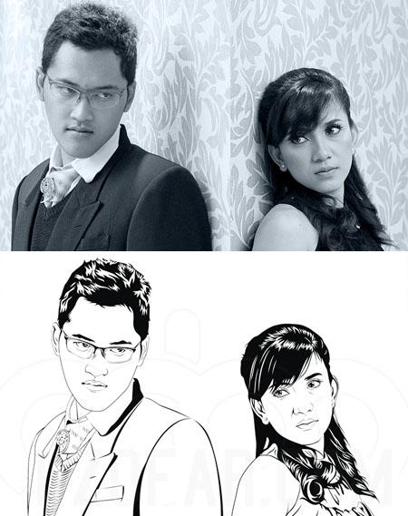 Line Art Wajah : Rahmanfahir cara membuat foto kartun di coreldraw