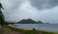 The view south from the Gros Islet public beach