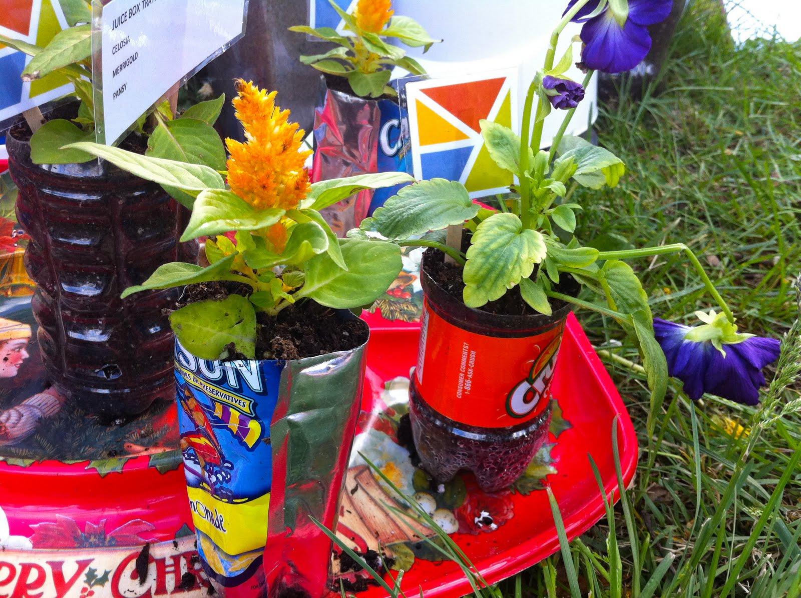 StrungByColor: Recycled Garden Decor
