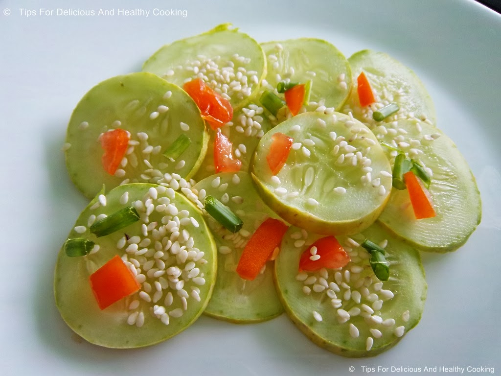 ... asian flavored sesame cucumber salad cucumber is very healthy a