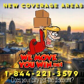 WEMOVEYOUWIN 1-844-221-3579 DISCOUNT MOVERS