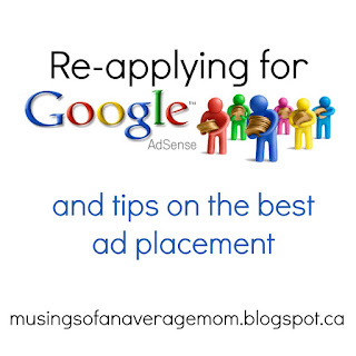 reapplying for google adsense