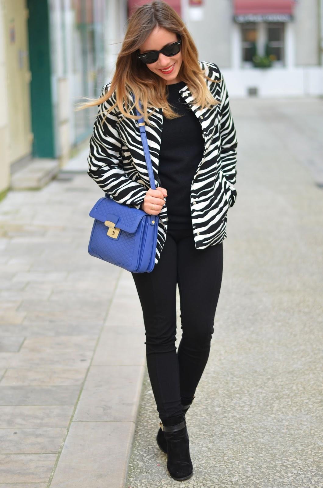 Manteau rayures zébre