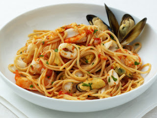 spaghetti ai frutti di mare marisco venecia