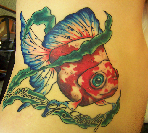 chinese goldfish tattoo. hot chinese goldfish tattoo.