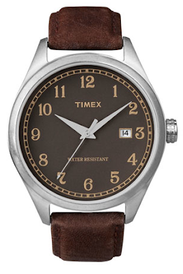 brown analog watch with brown strap