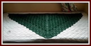 knit shawl blocking