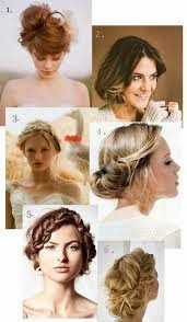 Bohemian Updo Wedding Hairstyle For Short Hair