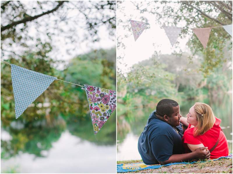 engagement photography south florida bunting banner