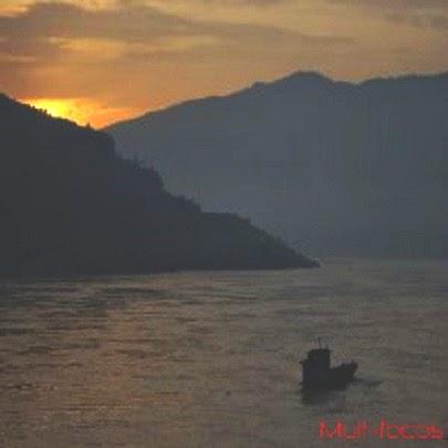 Nascer do sol na China