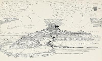 dibujo de tolkien y la tierra media