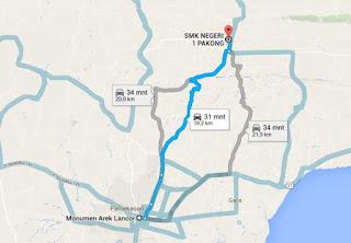 Peta Lokasi SMK Negeri 1 Pakong