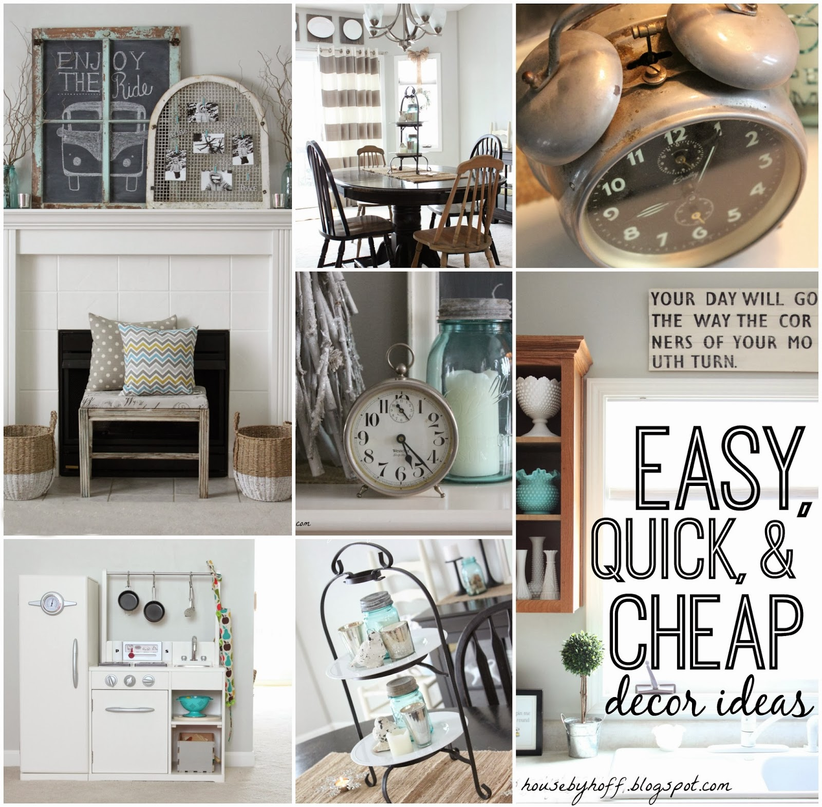Easy Quick and Cheap Decor Ideas via housebyhoff.com