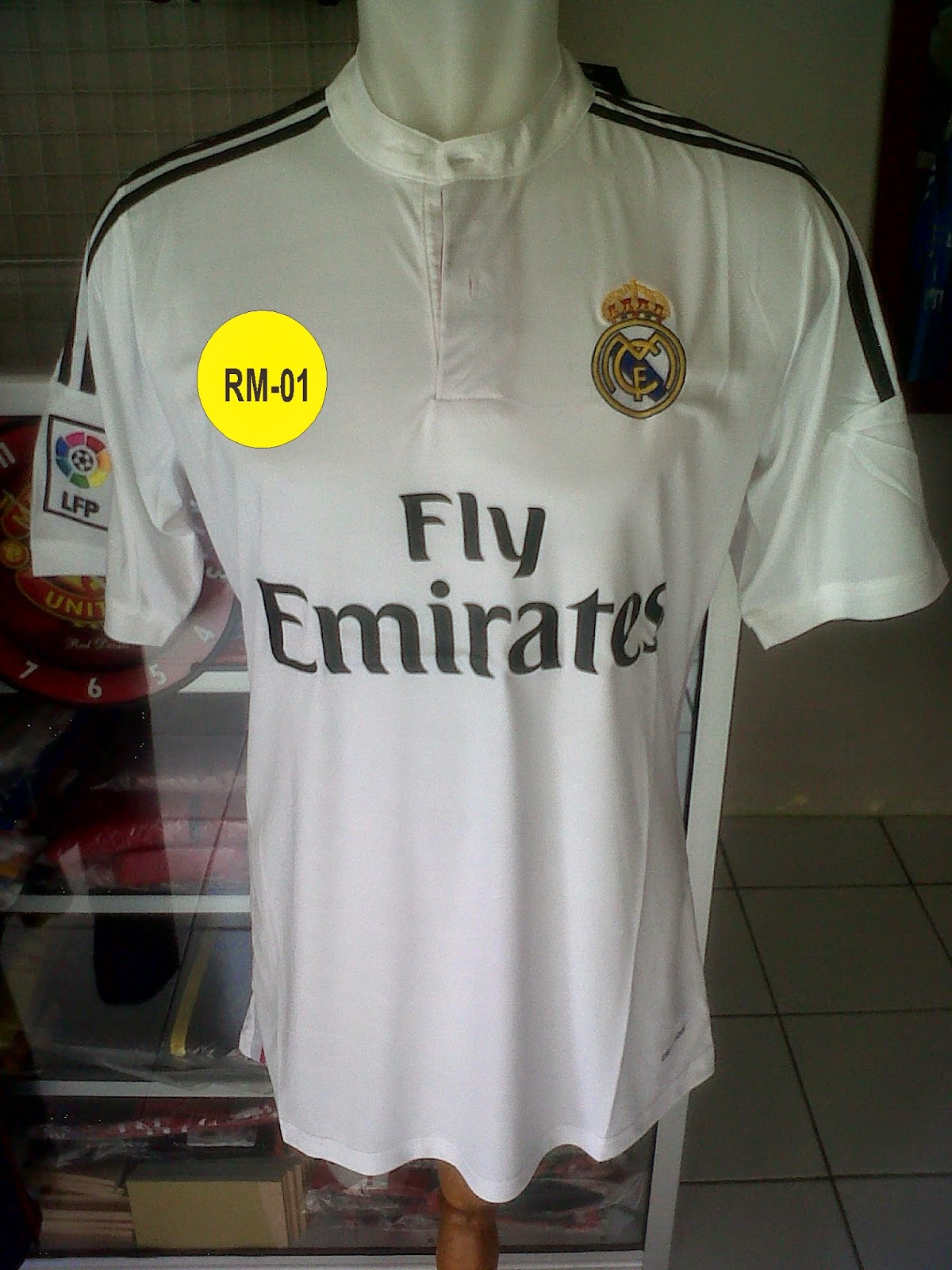 Jersey Real Madrid Home 2014/2015 Model Relika