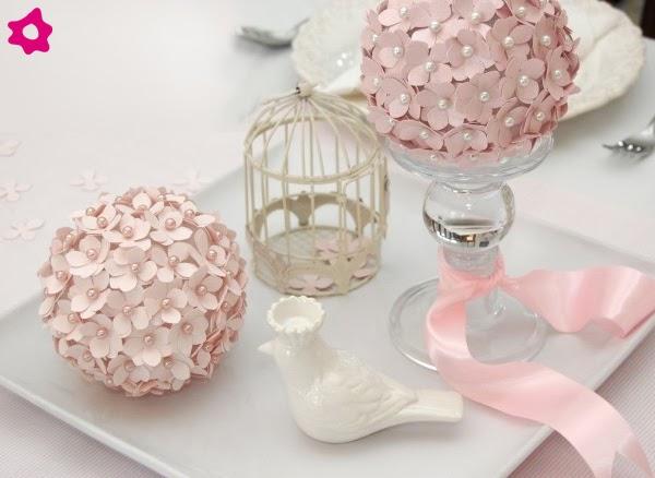 flores jardim camburi:Faça você mesma: Enfeite de mesa Delicado