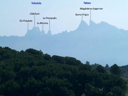 Vistes de les regions de Tebes i la Tebaida de Montserrat