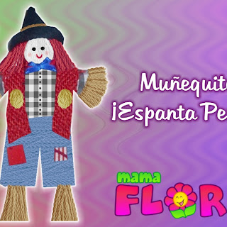 Muñeco Espanta Penas, un lindo pin para regalar | Hazlo con Retazos de Telas